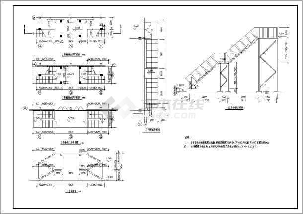 某食堂钢结构建筑设计全套施工方案图-图3