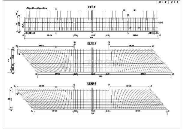 13m小桥板梁钢筋构造完整cad图-图3