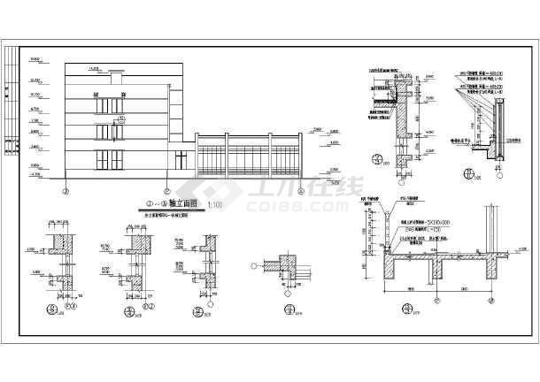某小型办公楼建筑cad施工图-图2