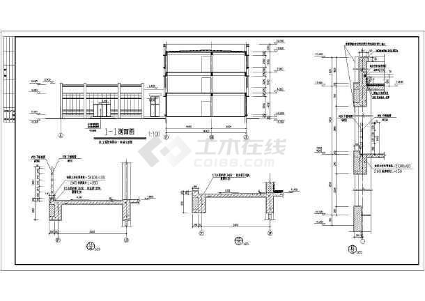 某小型办公楼建筑cad施工图-图3