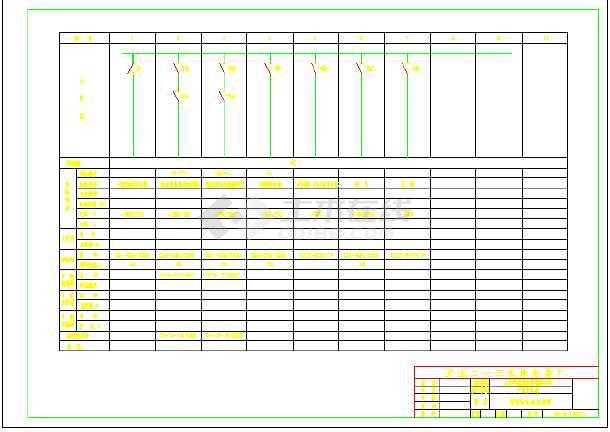某地区学校宿舍楼群弱电气cad图纸-图3