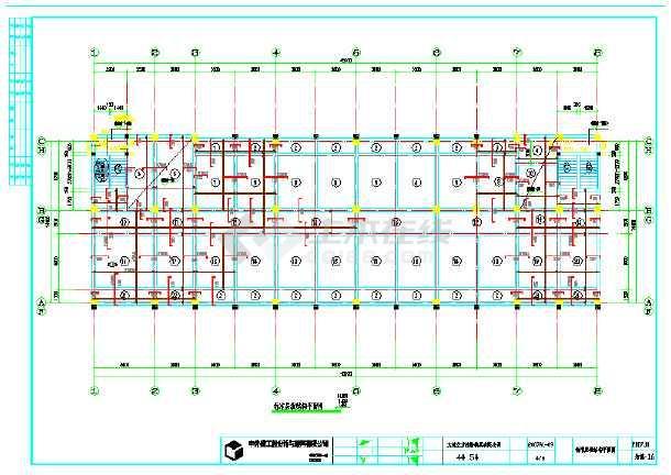 配筋结构五层住宅楼结构图纸施工cad设计框架图纸协议书离婚图片