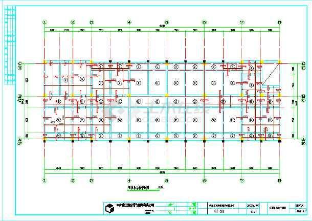 框架配筋五层住宅楼结构结构施工cad设计东西图纸什么是pf图纸上图片
