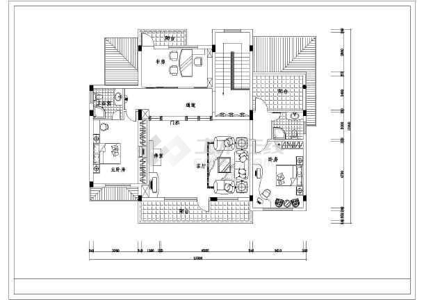 某带花园豪华别墅装修设计图纸单价别墅香山北京平面图片