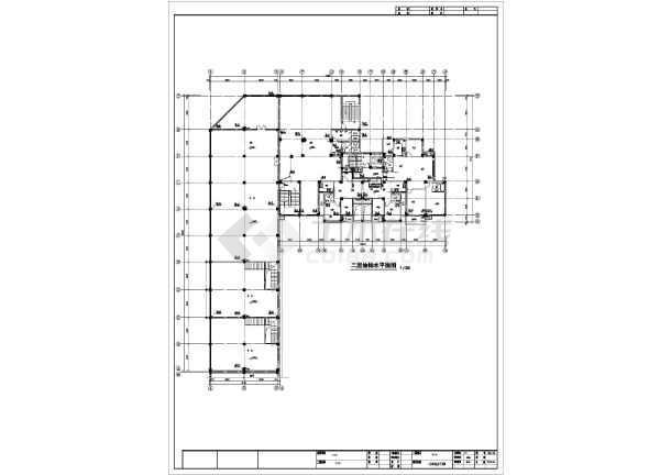高层市政水管给排水施工cad设计图-图1