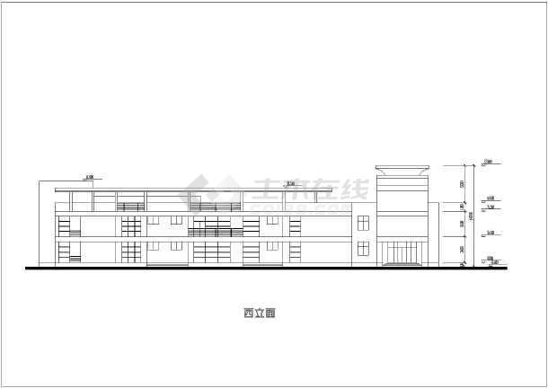 机关幼儿园框架结构教学楼建筑设计图纸