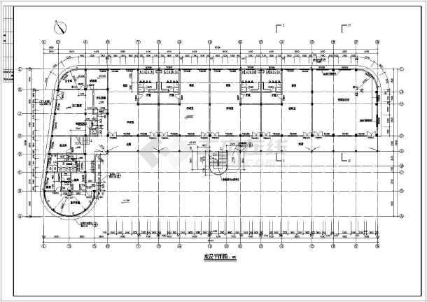 大型幼儿园教学建筑设计cad图纸图片2