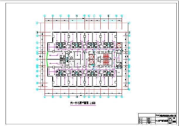 高层小区建筑楼房给排水cad设计图