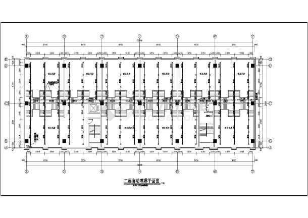 小高层医院建筑给排水设计cad平面图