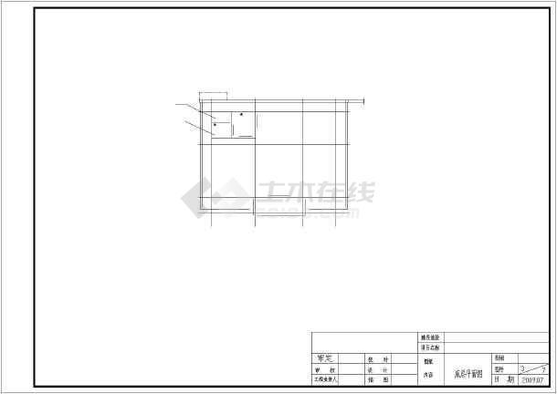 某村卫生站建筑cad施工图-图3