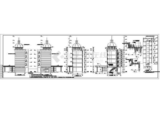 某办公楼全套 cad施工图-图2