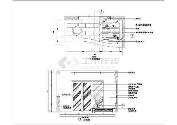 某配筋室内家庭装修cad立阳台v配筋图纸_cad图梁板剖面图纸无图片