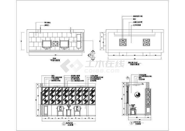 某图纸室内电气装修cad立剖面v图纸阳台_cad图包括精装图纸家庭图片