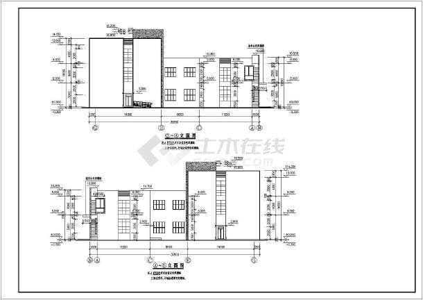 某生物反应基地三层办公楼建筑设计施工图