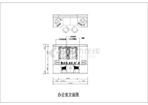 某地服装厂办公室设计装修方案施工图图片