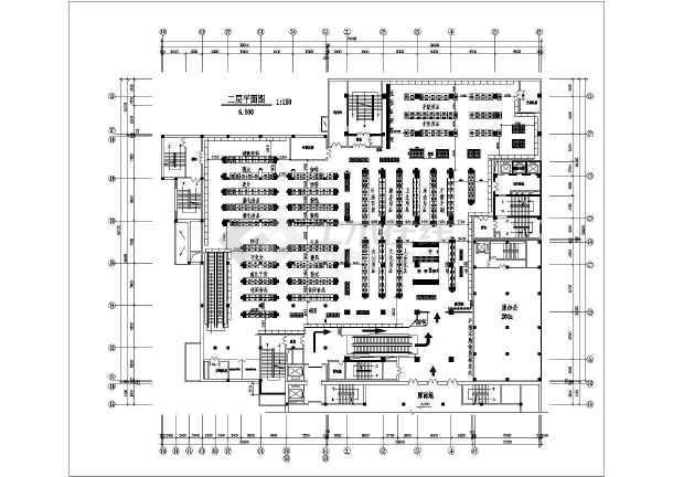 某地两层超市cad平面布置方案设计图图片