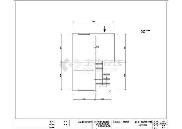 某平面图纸室内装修设计cad住宅经典土棚v平面图纸图片