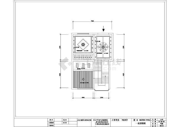 某台式住宅室内装修设计cad经典图纸电脑设计图纸平面图片