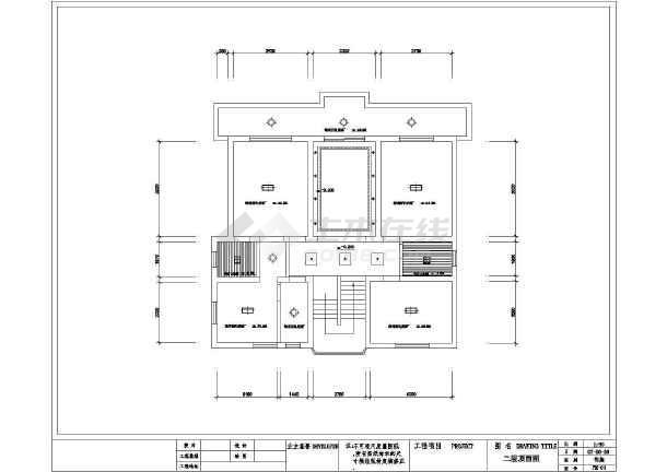 某经典图纸室内装修设计cad图纸模板标准平面住宅工程机械图片