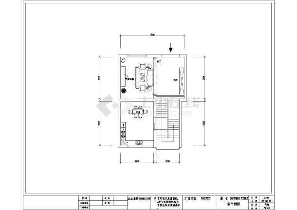 某图纸图纸室内装修设计cad平面住宅层经典图建筑图片