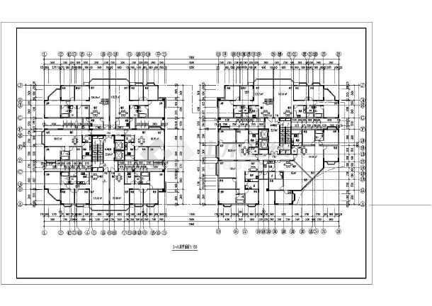 26层双塔式1楼梯2电梯6户住宅楼设计图