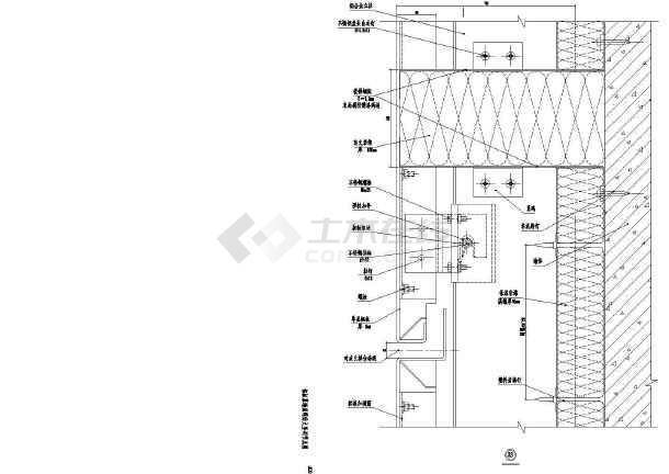 某商业建筑铝板防火间结构幕墙设计施工图