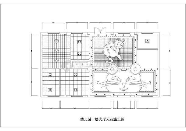 某地区幼儿园室内装修cad布置施工图