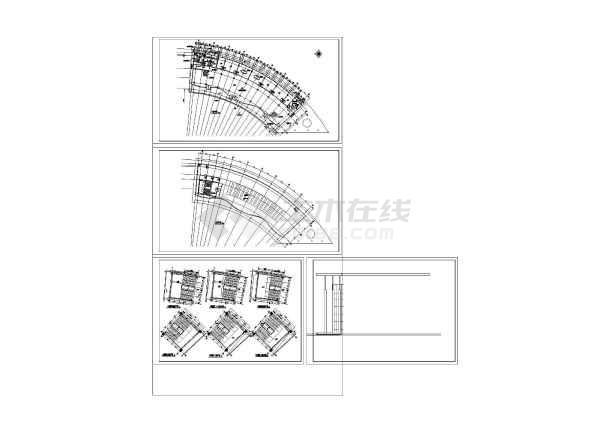某地弧形酒店施工设计专业cad图