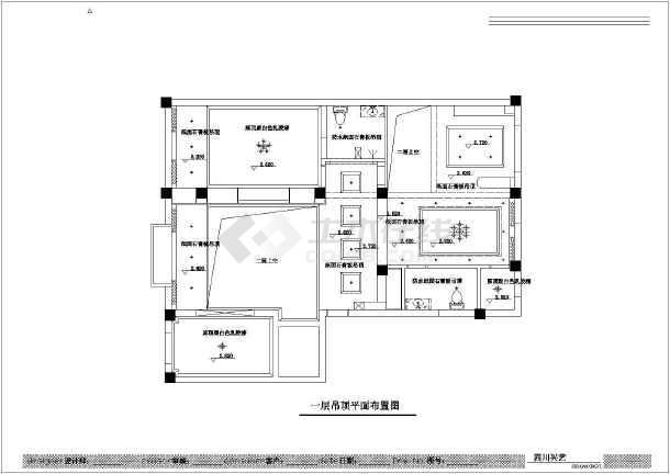 经典整套复式楼室内装修cad施工方案图图片