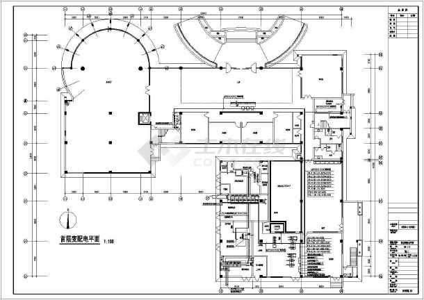 办公大楼全套电气设计施工cad图纸