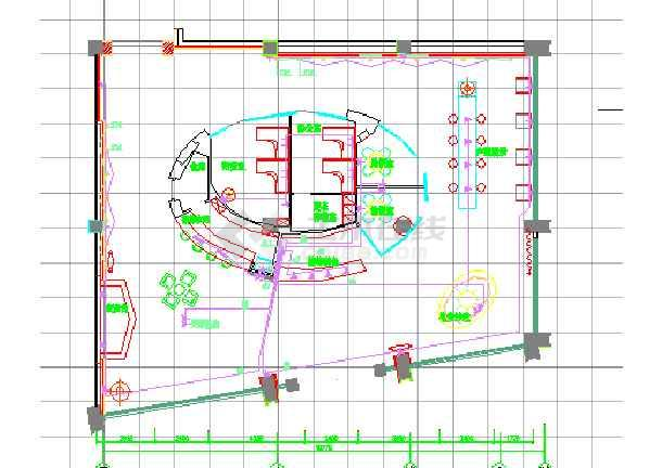 东莞某售楼处装修与水电施工图(4张效果图)-图1