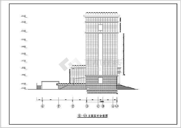 某图纸办公楼编辑干挂格式石材v图纸幕墙银行方案建筑图纸都sw不什么后显示图片