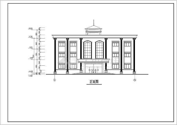 一套小型欧式三层办公楼建筑方案图纸