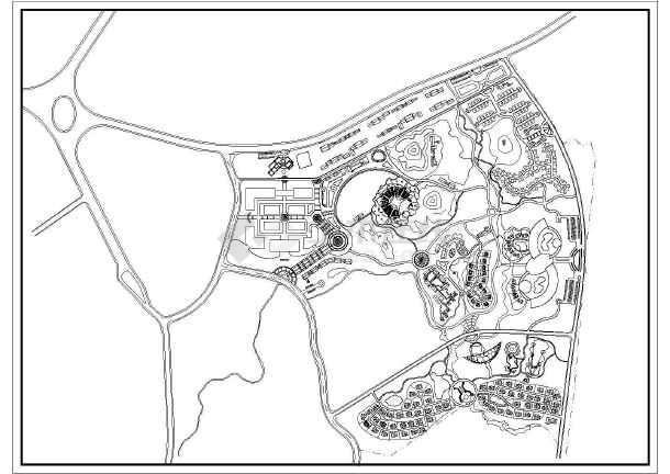 某旅游服务区修规方案图-图1