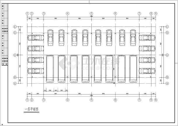 钢结构车库cad施工图-图2