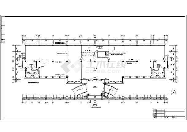 某多层办公楼cad施工图纸-图1