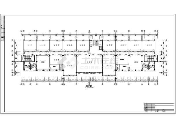 某多层办公楼cad施工图纸-图2