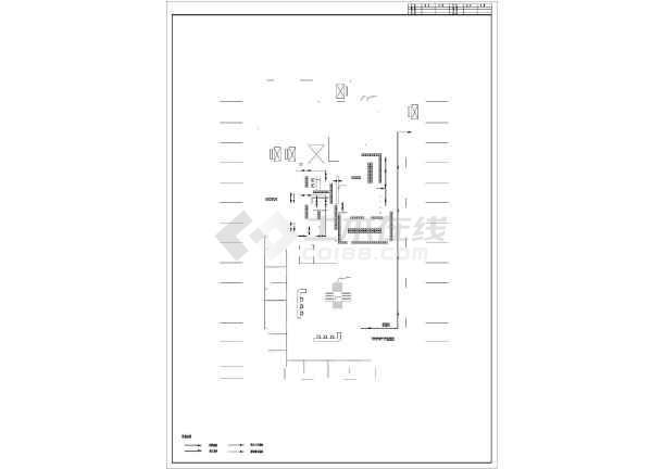 某医院重症室ICU装修设计cad施工图纸