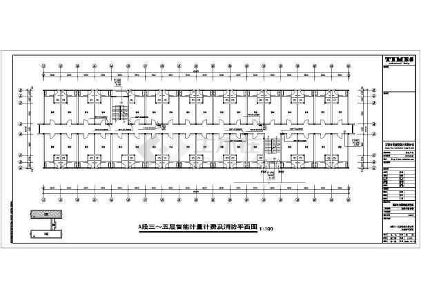 某地区大学学生宿舍楼电气设计cad施工图纸