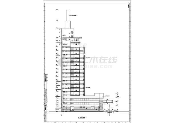 医院综合楼cad施工图-图1