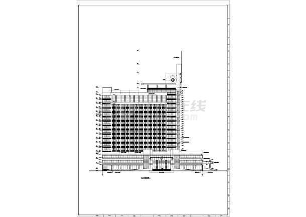 医院综合楼cad施工图-图2