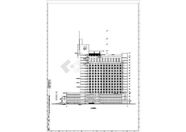 医院综合楼cad施工图-图3
