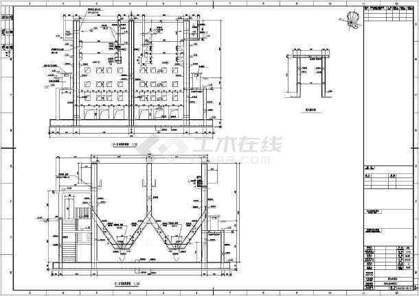 某废水处理站厌氧反应池结构设计施工图-图3