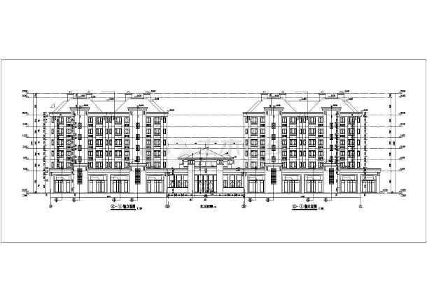 华森多层住宅设计图纸-图1