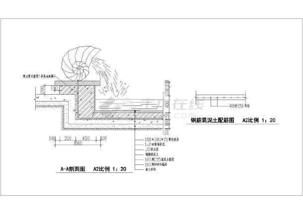 喷水小品cad施工图-图2