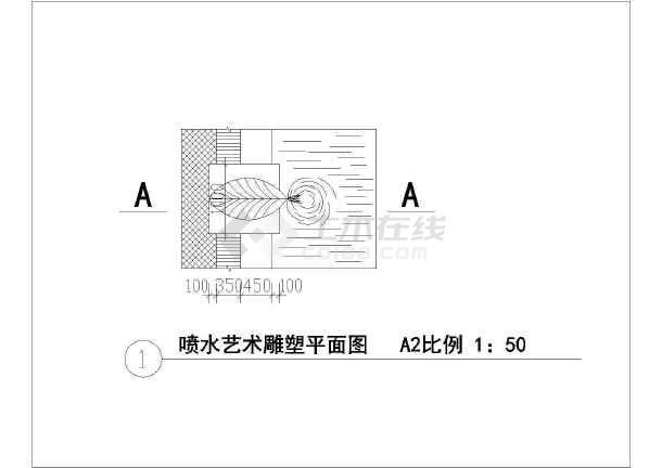 喷水小品cad施工图-图3
