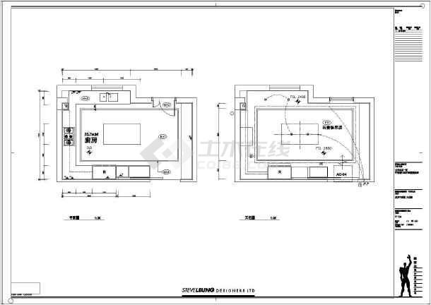 某大型小区型别墅建筑装修设计施工图图片
