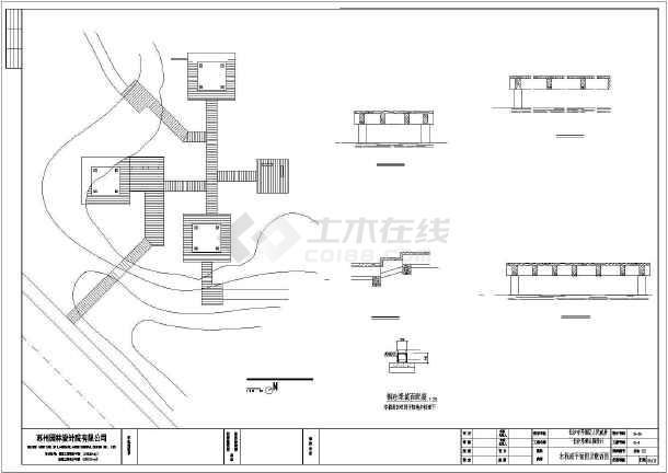 公园木栈道建筑cad施工图-图2