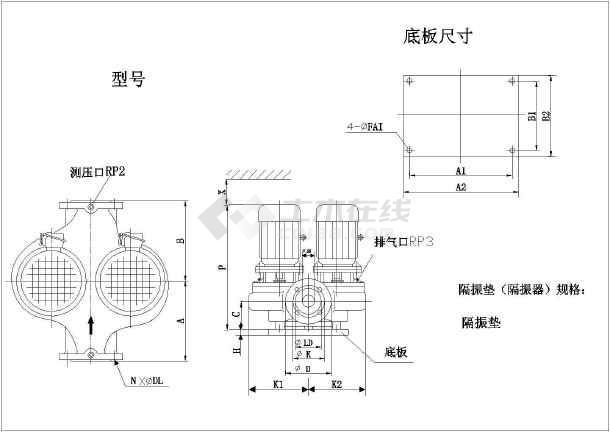 某最新水泵的各种样式CAD设计详图-图1