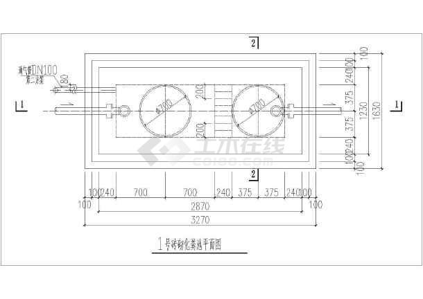 某市混凝土小型化粪池施工设计CAD图-图2
